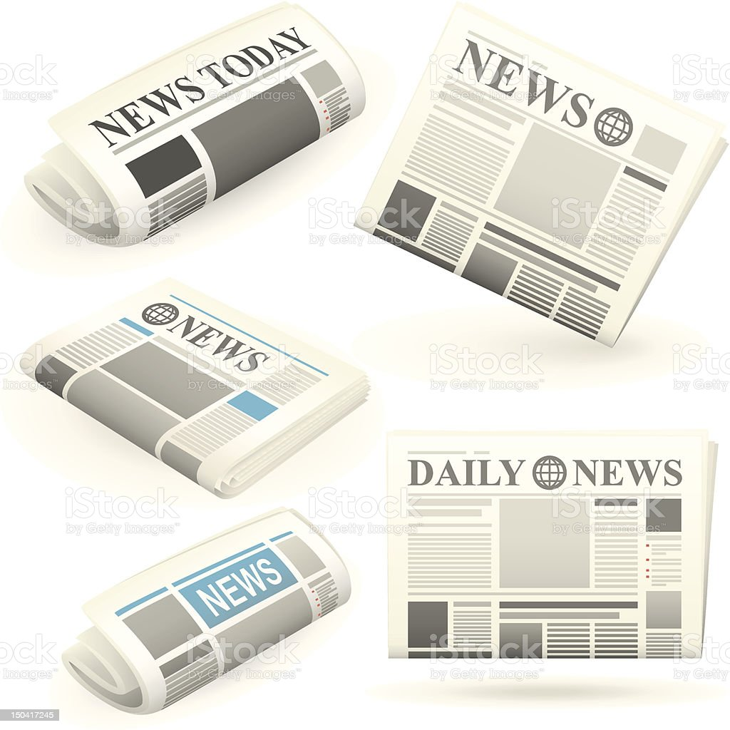 Newspaper icons royalty-free stock vector art