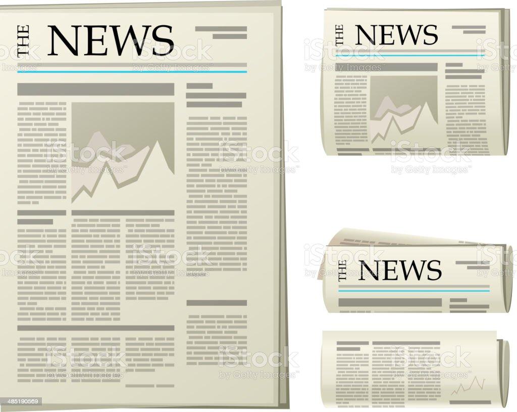 newspaper icons vector art illustration