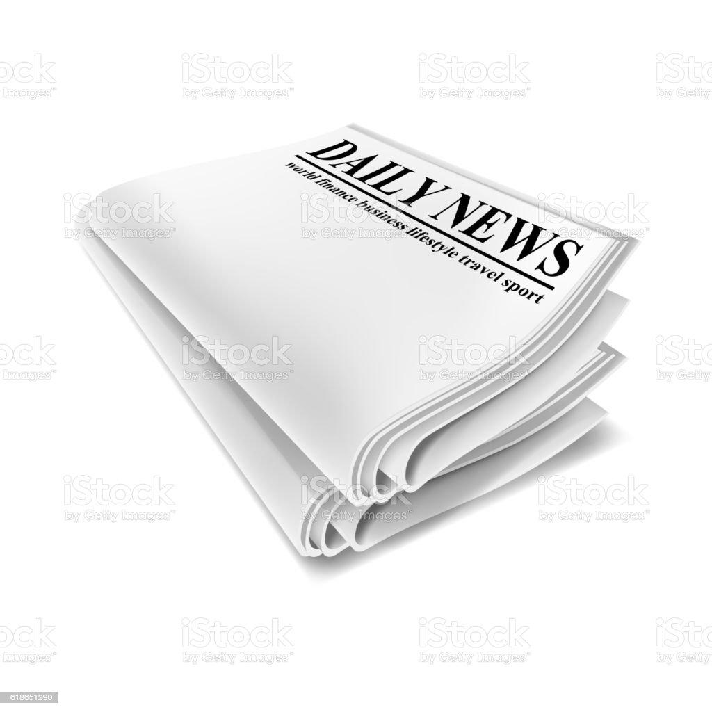 Newspaper. Illustration isolated on white background vector art illustration