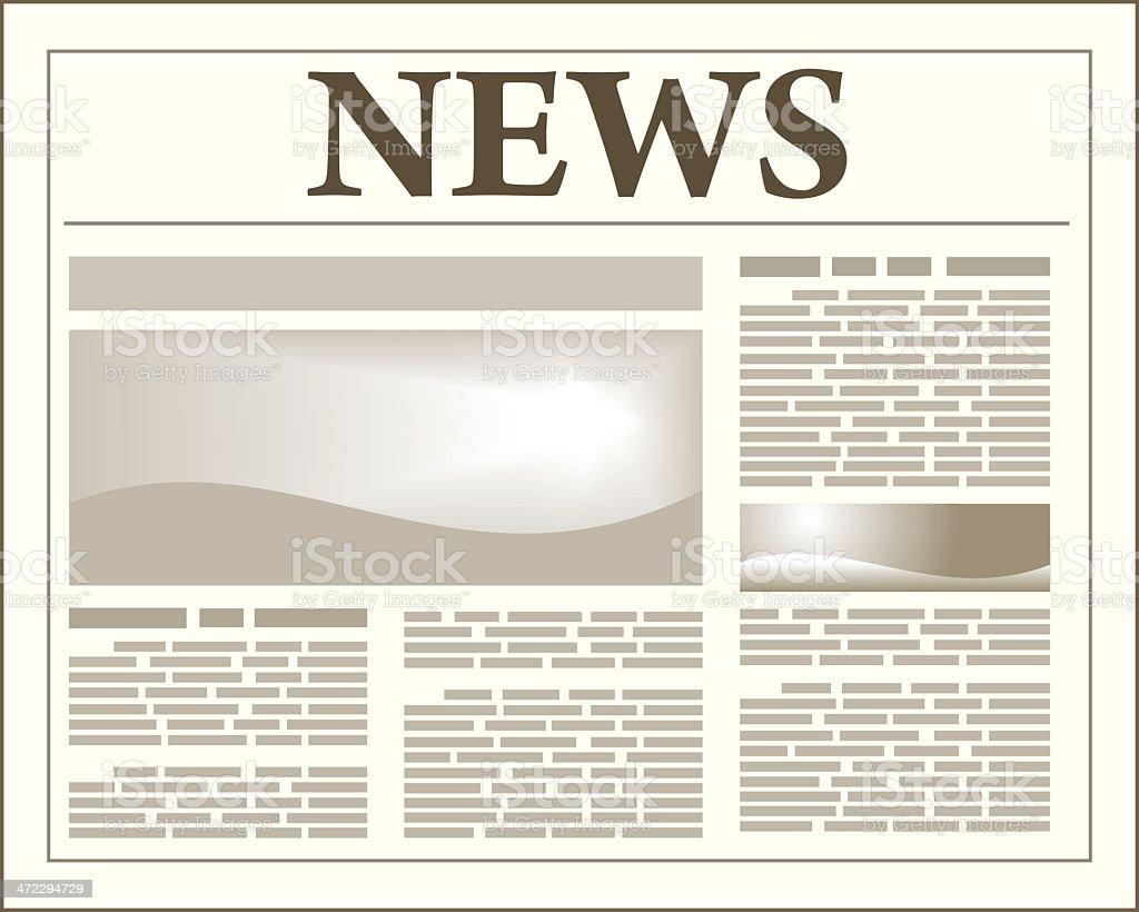 Newspaper illustration - VECTOR royalty-free stock vector art
