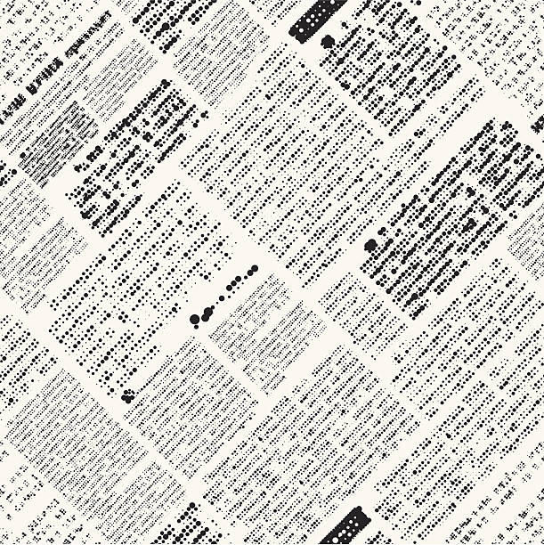 newspaper imitation - alphabet backgrounds stock illustrations