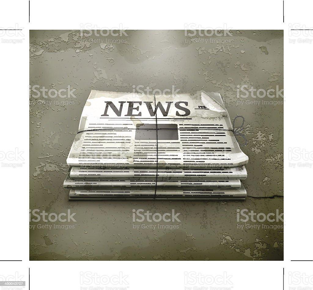Newspaper, old-style vector art illustration