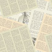 newspaper pattern seamless
