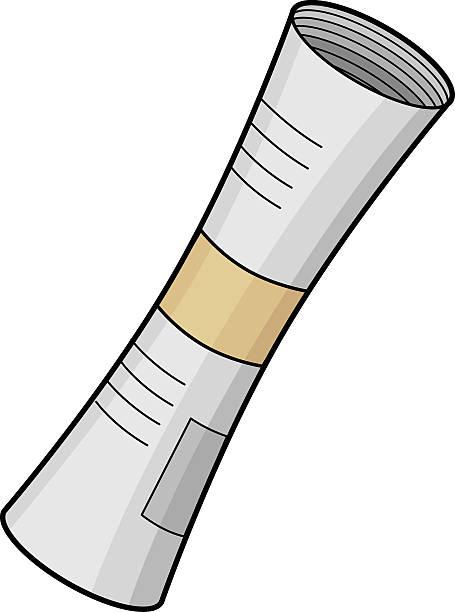 illustrazioni stock, clip art, cartoni animati e icone di tendenza di rotolo di giornale - rotolo