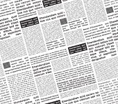 Vector illustration of a background pattern seamless simulation of a newspaper.