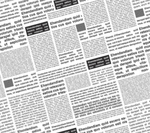 Newspaper Seamless Vector Art Illustration