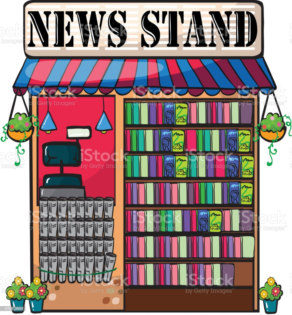 Newspaper shop royalty-free stock vector art