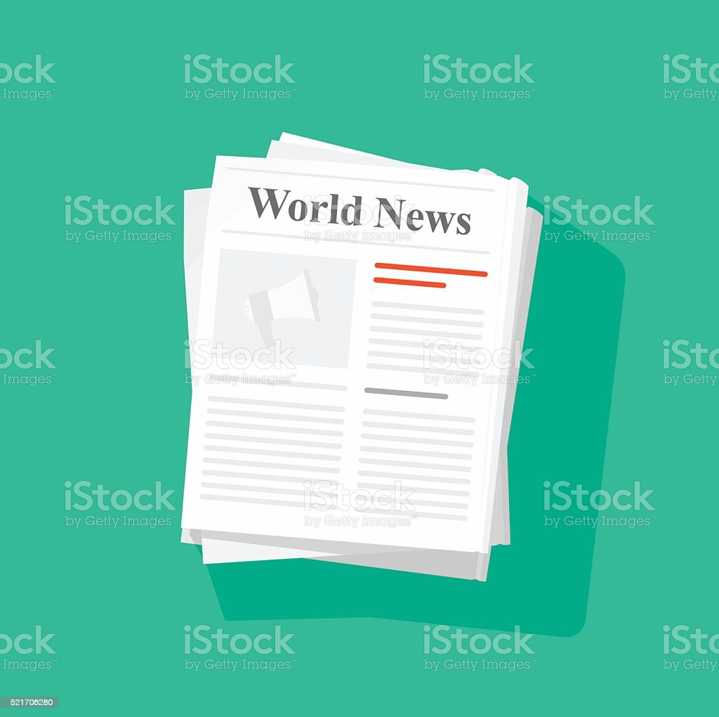 Newspaper stack vector illustration vector art illustration