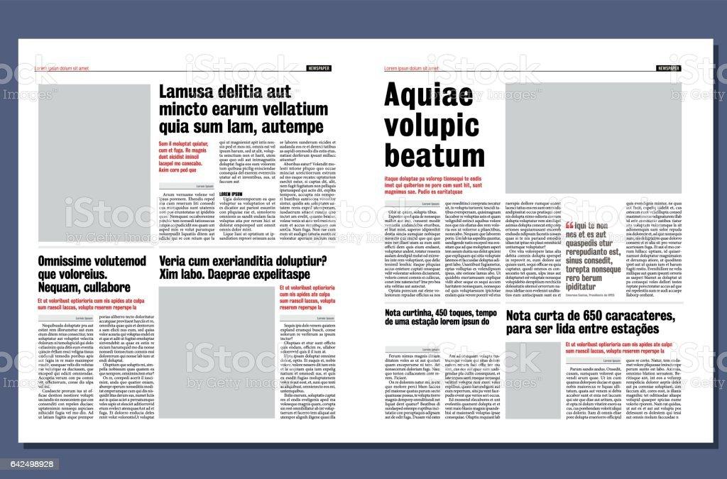 Newspaper Template Cliparts Vectoriels Et Plus D Images De Bresil