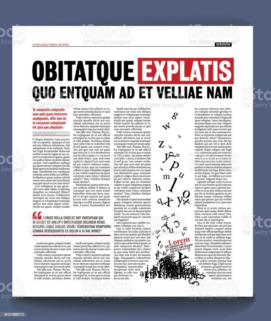 Plantilla De Periódico - Arte vectorial de stock y más imágenes de ...
