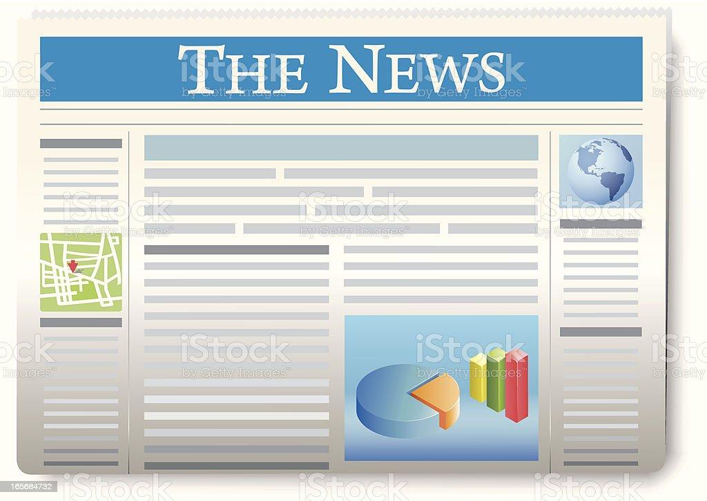 Newspaper royalty-free stock vector art