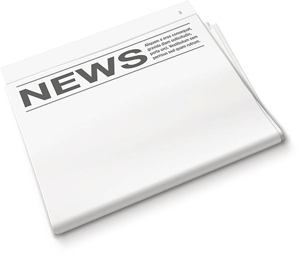 Newspaper Blank newspaper. Vector illustration good news stock illustrations