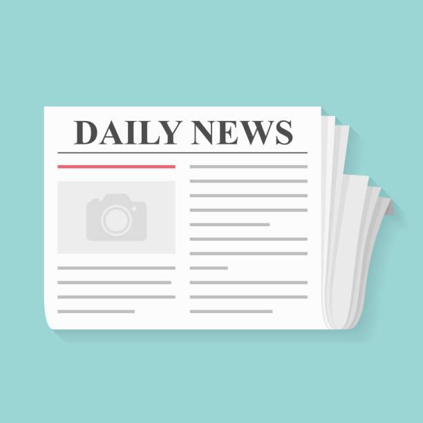 gazete - newspaper stock illustrations