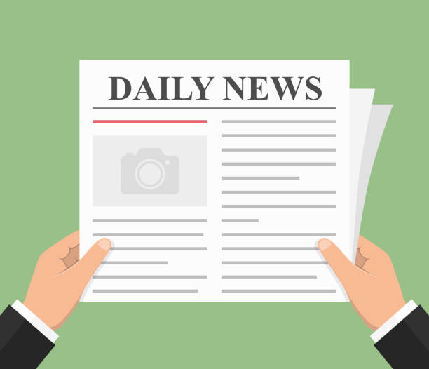 Newspaper Abstract newspaper, daily news, flat style, vector eps10 illustration good news stock illustrations