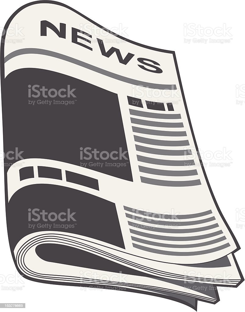 Newspaper vector. Illustration royalty-free newspaper vector illustration stock vector art & more images of article