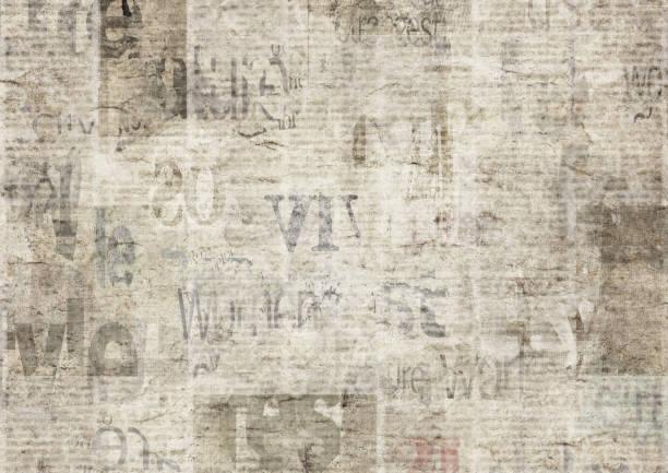 오래 된 그런 지 빈티지 읽을 수 없는 종이 질감 배경 신문 - 오래된 stock illustrations