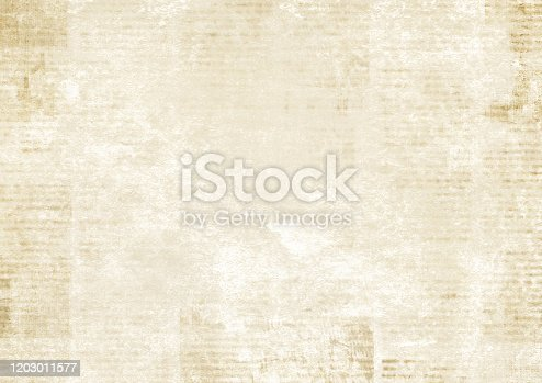 istock Newspaper with old grunge vintage unreadable paper texture background 1203011577