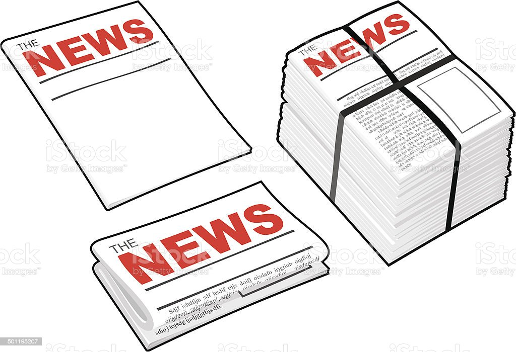 Newspapers vector art illustration