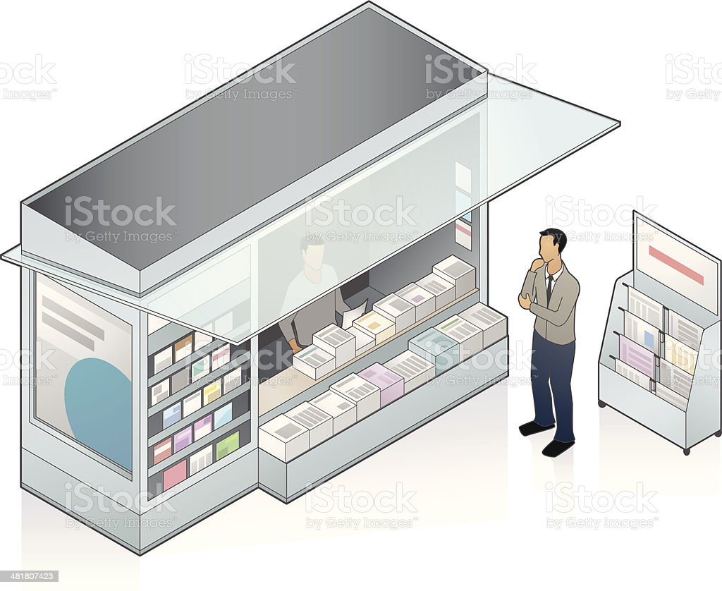 Newsstand Illustration vector art illustration
