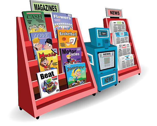 Newsstand vector art illustration