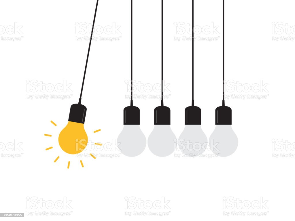 Newton's cradle concept vector art illustration