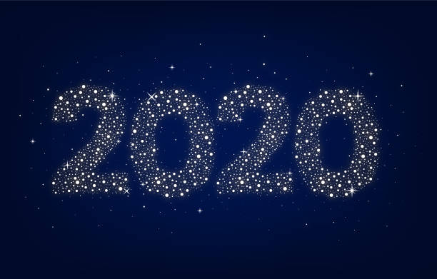 Newyear 2020 vector art illustration