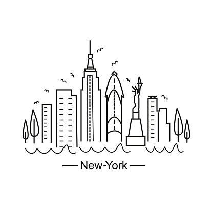 New-York city, black and white