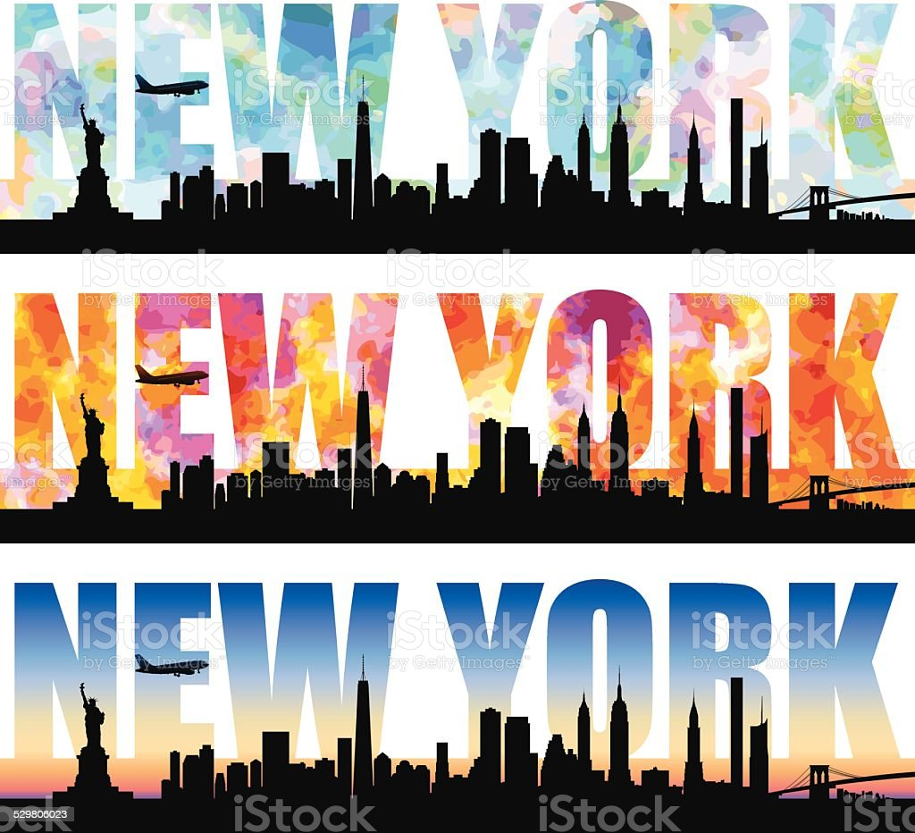 NewYork Word vector art illustration