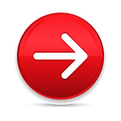 Next arrow icon shiny luxury design red button vector