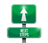 Next steps sign concept Illustrator. design graphic isolated over white