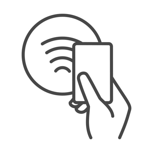 ilustrações de stock, clip art, desenhos animados e ícones de nfc contactless payments sign - paying with card