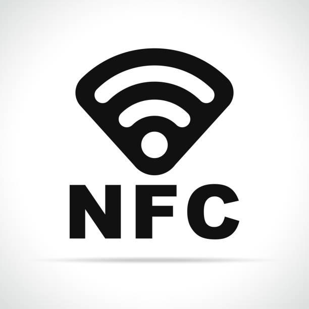 illustrazioni stock, clip art, cartoni animati e icone di tendenza di nfc icon on white background - near