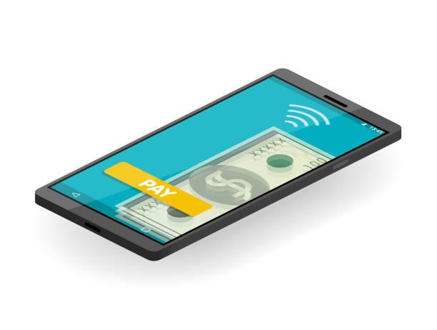 NFC ödeme vektör sanat illüstrasyonu