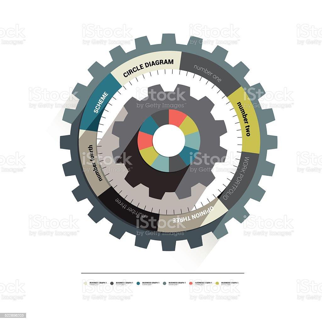 Nfocircle Cog Rad Diagramm Stock Vektor Art und mehr Bilder von ...