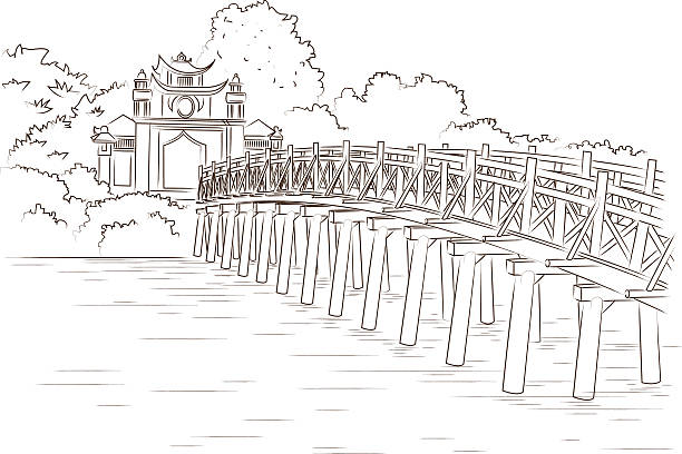 Royalty Free Hoan Kiem Lake Clip Art, Vector Images