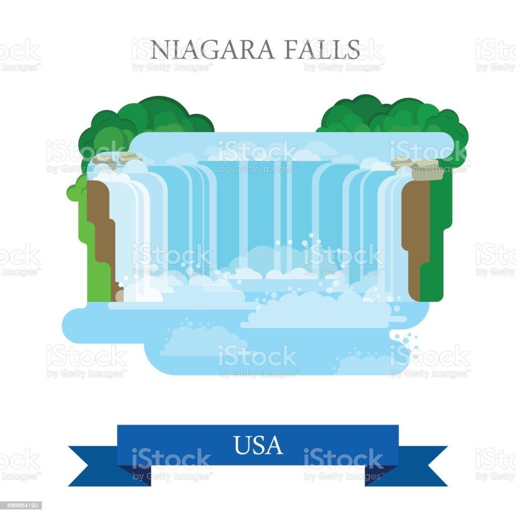 niagara falls in united states canada flat cartoon style historic rh istockphoto com niagara falls clip art free