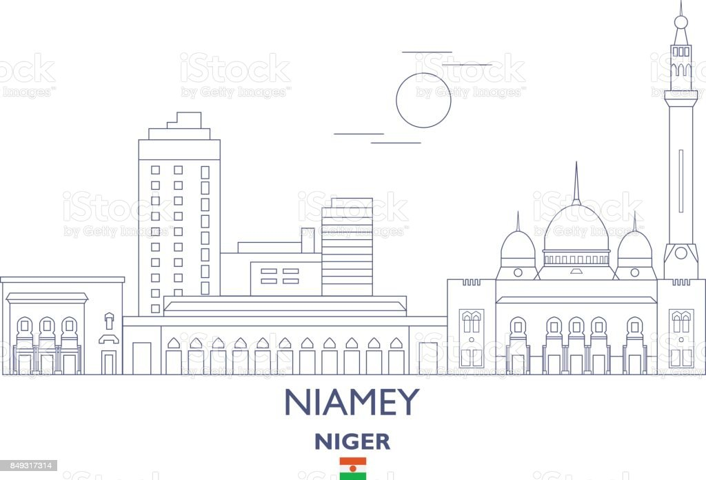 Niamey city skyline niger stock vector art more images of niamey city skyline niger royalty free niamey city skyline niger stock vector art amp altavistaventures Choice Image