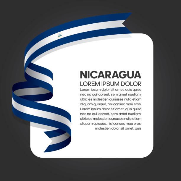 nicaragua flagge hintergrund - managua stock-grafiken, -clipart, -cartoons und -symbole