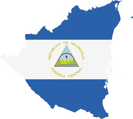Nicaragua flag map