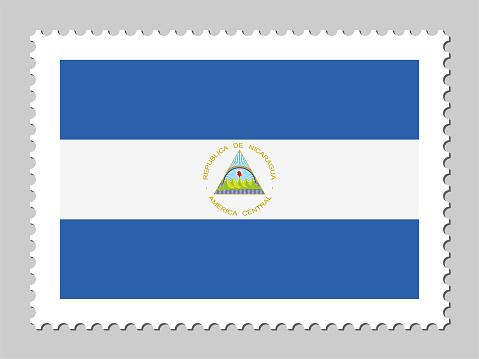 Nicaragua flag postage stamp