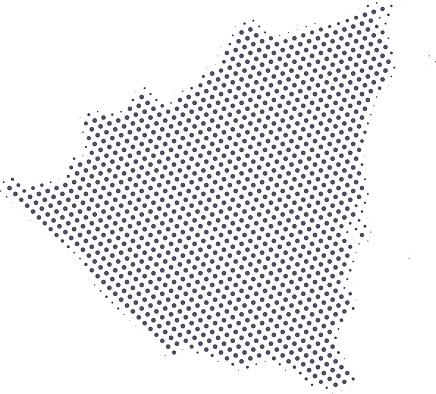 Nicaragua map of dots