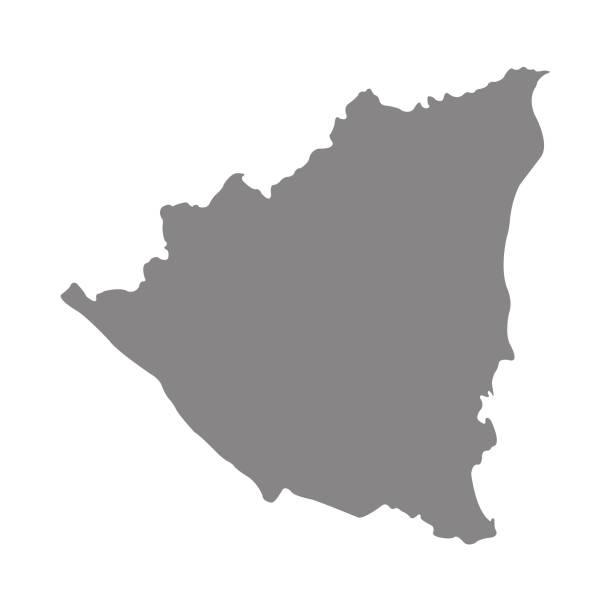 nicaragua-karte - managua stock-grafiken, -clipart, -cartoons und -symbole
