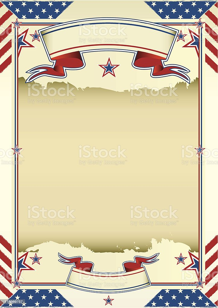 Nice american background royalty-free stock vector art