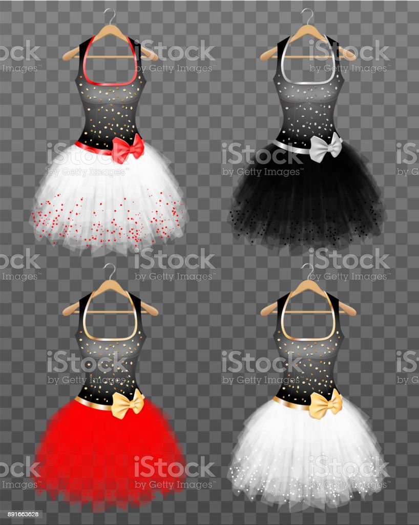 Nice Coctail Dresses - ilustração de arte vetorial
