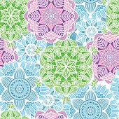 Nice colorful  Mandala. Vector Seamless Pattern.