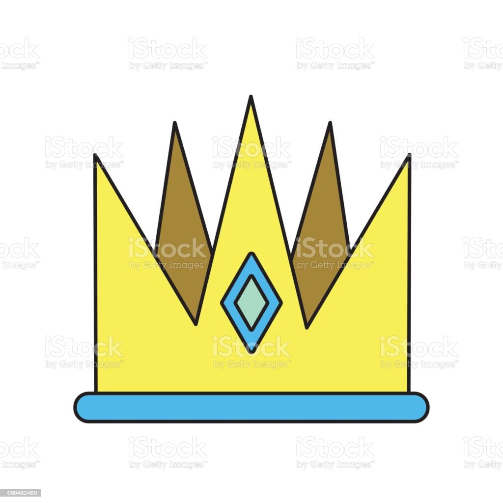 Nice Crown Of King To Glory And Pawer Stock Illustration
