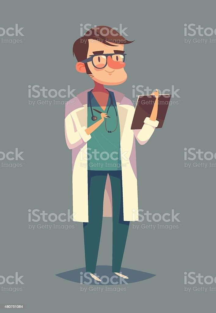 Nice doctor character vector art illustration