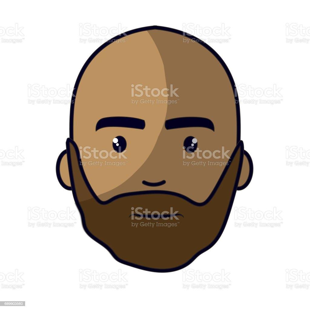 Mit glatze bart Glatze Und