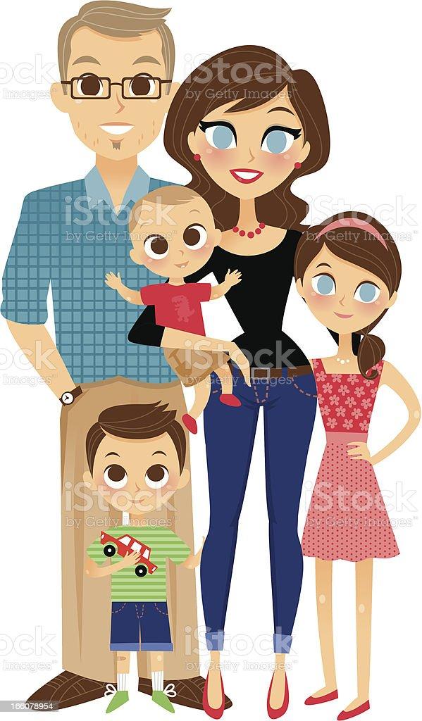 Nice Family royalty-free stock vector art
