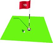 Nice golf shot on 18th Hole